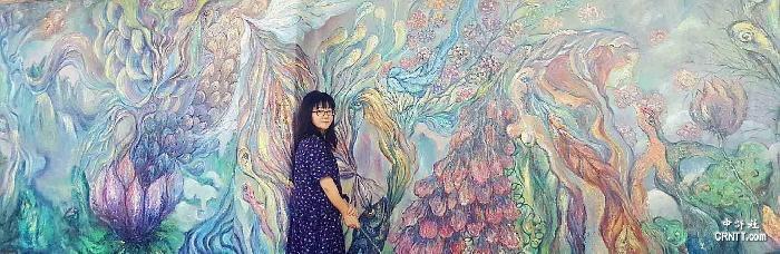 余鍵,《芳華》,油畫,200X1000cm